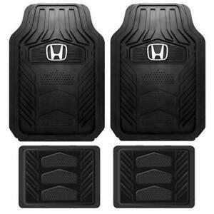 Honda Logo Heavy Duty All Weather Durable Rubber Floor Mat 4pcs Set