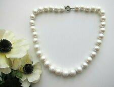 White South Sea Nearly Round Slightly Baroque Graduated Pearl Necklace.