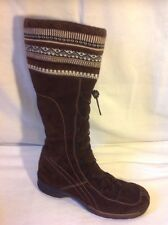Remonte Brown Knee High Suede Boots Size 39