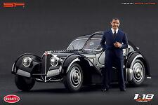 1/18 Jean Bugatti VERY RARE! figure for1:18 CMC Autoart Atlantic 57 Royal