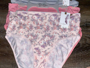 Jessica Simpson ~ Women's Brief Underwear Panties Polyester Blend 3-Pair ~ 2X
