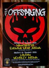 THE OFFSPRING rare UK tour 2001 Flyer punk ( Rancid Green Day Nofx Ramones )