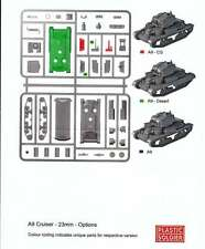 Plastic Soldier British A9 Cruiser Tank (1 Tank / 2 Variants) 1 - Sprue