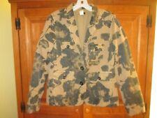 Ladies J. Crew Tan Blue Floral Blazer Jacket Size Small