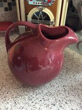 Vintage Ball Pottery #633 Burgundy Water Pitcher Ice Lip