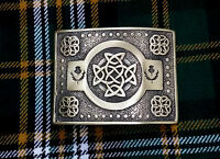 ST Men's Scottish Kilt Belt Buckle Celtic Knot Antique Kilt Belt Buckles Thistle
