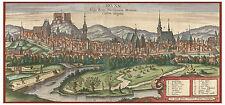 Brno Moravia Czech Republic bird's-eye view map Braun Hogenberg ca.1617