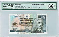 Scotland Commem. 5 Pounds 2005 Jack Nicklaus GOLF P-365 PMG Gem Unc. 66 EPQ.