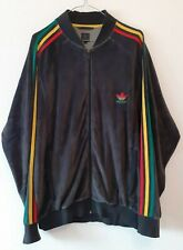 Rare Adidas Rasta Velvet Collection Track Jacket XL Retro Vintage Bob Marley