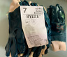 (12) Ansell Coated Gloves size 7 Blue Coated 47-402 12 pairs NEW