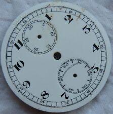 Chronometro Chronograph Pocket Watch enamel dial 41,5 mm. in diameter