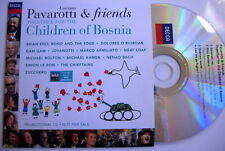 U2 MEGARARE CD PROMO PAVAROTTI & FRIEND -FOR CHILDREN OF BOSNIA- CARDSLEEVE MINT