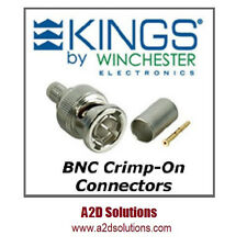 BAG-100 Kings 2065-2-9 75 Ohm BNC Connector - Belden 1505A 1506A & Gepco VPM2000
