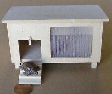 1:12 Natural Finish Wooden Hutch & Grey Tortoise Doll House Miniature Garden dol
