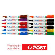 12 x Artline 700 Permanent Marker Chisel 0.7mm Assorted Colours