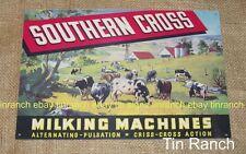 SOUTHERN CROSS MILKING MACHINE tin SIGN Australian dairy farmer COW milk vintage