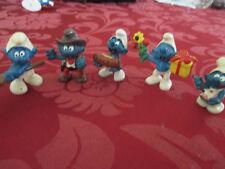 5 x Schlumpf Schlümpfe Schleich Peyo verschiedene Figuren