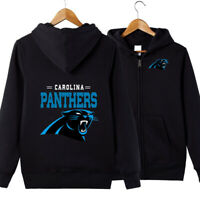 Carolina Panthers Team Hoodie jacket Zip Up casual coat Sweatshirt FAN'S Gift