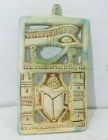 RARE ANCIENT EGYPTIAN ANTIQUE Scarab Horus Eye Protection Amulet 1874-1765 BC