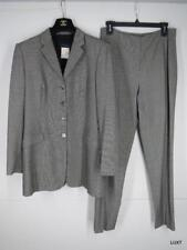 PIAZZA SEMPIONE Pant Suit 10 M 46 Gray Wool Blend Blazer Italy Womens Work $1875