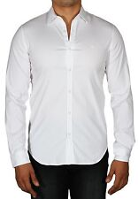 Lacoste Men's Slim Fit Stretch Cotton Long Sleeve Button Down Shirt White CH9628