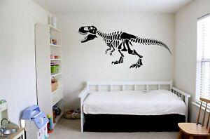 Dinosaur Skeleton Wall Art Sticker Boys Girls Jurassic Bedroom Decal