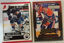 2 TAYLOR HALL 2010-11 SCORE RC #560 Rookies and Traded & 2012-13 MVP #16 -Devils