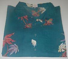 Vintage Men's Casual Haiaiian Shirt Islander Short Sleeve Collar Palm Tree Sz XL