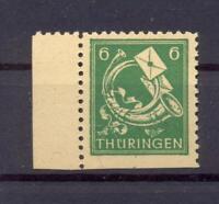 SBZ Thüringen 95 AXw uU unten ungezähnt postfrisch geprüft (bs56)