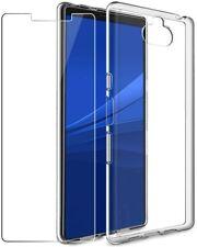Coque Silicone Transparent + 1 Film Vitre Verre Trempé Pour Sony Xperia 10 II