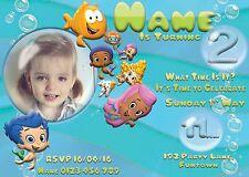 Bubble Guppies Photo Personalised Digital Invitation - Print At Home