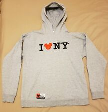 Disney I Love NY New York Mickey Hoodie Pullover Sweatshirt Size Medium