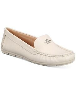 COACH Women's Marley Driver Loafer Chalk  Leather Size 10 M