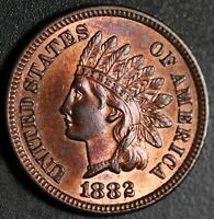 1882 INDIAN HEAD CENT - MS BU UNC - With CARTWHEELING MINT LUSTER!