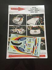 DECALS 1/24 FORD FOCUS KREMER RALLYE MONTE CARLO 2002 RALLY WRC TAMIYA