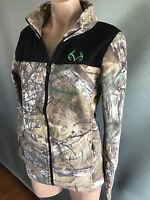BNWT Boys Sz L/12 Authentic Realtree Brand Camo Polar Fleece Zip Front Jacket