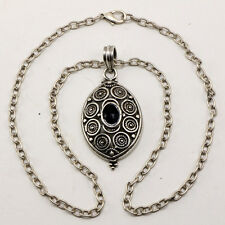 Women's Tobacco Raod Tribal Antique Silver Metal Necklace - Made In ITALY