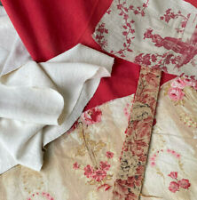 Antique Vintage French fabrics materials Crafting Project Bundle Ticking Toile