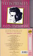 CD 16T ELVIS PRESLEY GREATEST LOVE SONGS DE 1991 PRESSAGE PORTUGUAIS