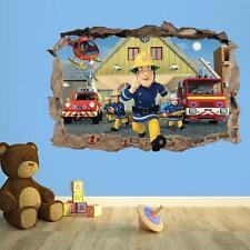 3D KIDS WALL STICKER FIREMAN SAM   KIDS BEDROOM VINYL WALL STICKER