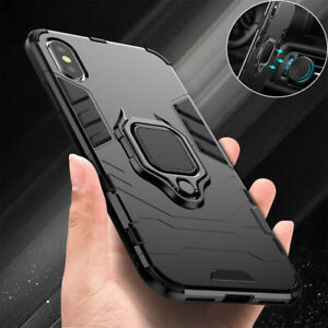 Case For iPhone 11 12 13 Pro Max XR X 8 7 Shockproof Rugged 360 Ring Stand Cover