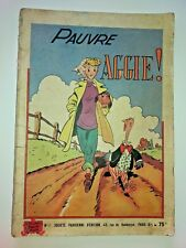 pauvre AGGIE N° 1  SPE dos pub PERRIER  1952