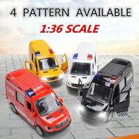 New 1:36 Fire Truck Simulation Police Ambulance Car Model Toy Kids Children