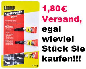 Sekundenkleber UHU 3x1g Minis FLÜSSIG  NUR 1X 1,80€ VERSANDKOSTEN Superkleber