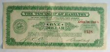 Depression Scrip One Dollar, Township Of Hamilton New Jersey, April 10, 1936