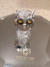 SWAROVSKI Mini Hibou-Retraité Cristal pièce de collection-Boîte et Cert