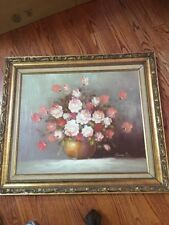 Vintage Estate Original Floral Oil Painting By Robert Cox Signed