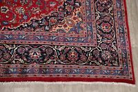 Hand-Knotted Oriental RED Area Rug 10x13 Floral Kashmar Dining Room Wool Carpet