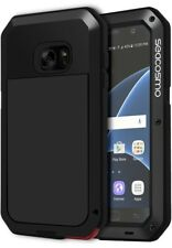 Seacosmo Heavy Duty Shockproof Metal S7 Case for Samsung Galaxy S7-Black