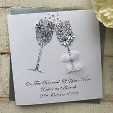 Handmade Personalised Wedding 'Renewal of Vows' Card Champagne Glasses Mum Dad